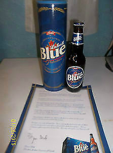 Labatt Blue beer Collector bottle in case #2057/2510