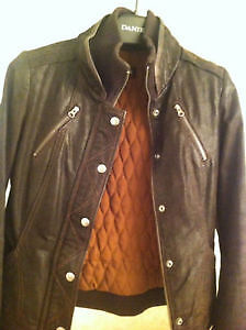 Danier Insulated Leather Jacket - 2XS