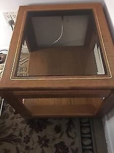 Tv stand, wooden dining set and glass top coffee table for sale