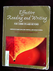 Effective Reading and Writing for COMM 170 and Beyond Textbook