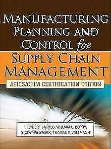 Livre Manufacturing planning control supply chain management