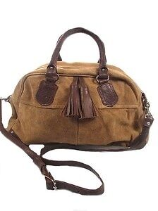 NEW JANE NORMAN SUEDE & LEATHER TASSLE TRIM HAND/SHOULDER BAG