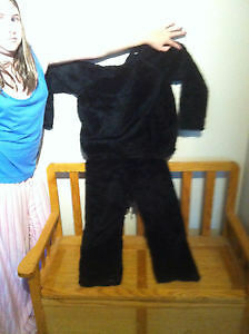 Boy or Girl Black fur bear Halloween costume