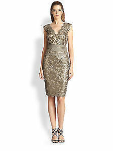 Dress Cocktail Wedding Party Sequin Tadashi Shoji size 6