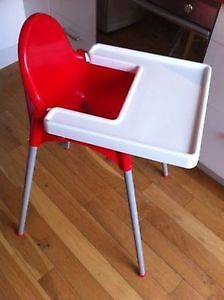 Ikea baby high chair with tray. AVAILABLE