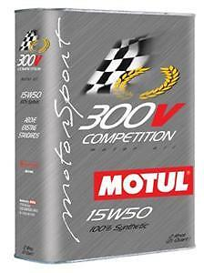 Motul 300V COMPETITION 15W50 Synthetic Motor Oil - 2 L Can  - 103138 104244 NEW