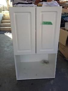 NEW white Euro Cabinet microwave cabinet