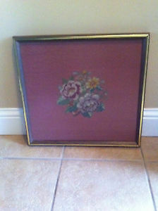 Antique Needle Point Framed