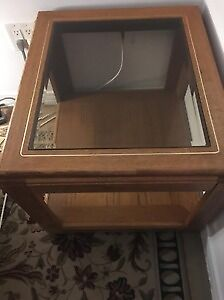 Glass top coffee & side tables Tv stand and wooden dining set