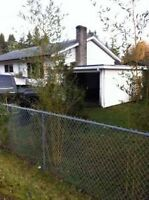 Fenced yard, lots of space to park RV, close to hospital/shops