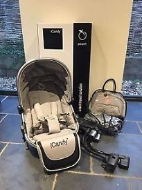 Icandy Peach Blossom double buggy conversion