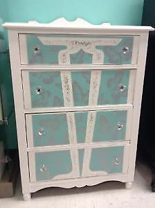 Make An Offer!!! Gorgeous butterfly dresser and nightstand