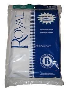 10 GENUINE Royal Metal Upright Vacuum Bags Type B