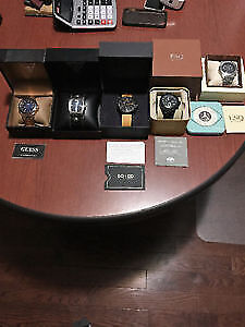 WATCHES ESQUIRE / GUESS x2 / SO&CO / FOSSIL