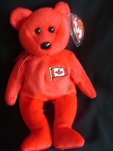 Pierre the bear Ty Beanie Baby stuffed animal Canadian exclusive
