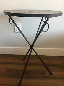 Mosaic Glass Side Table