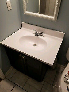 Bathroom sink with counter