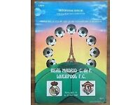 1981 European Cup Final programme Liverpool vs Real Madrid