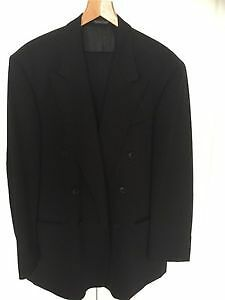 Black Wool Suit - Size 44