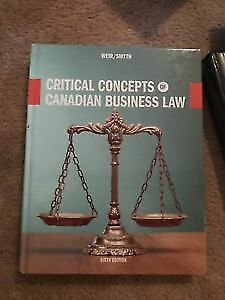 Critical concepts of Canadian business law WEIR/SMYTH (Brand new