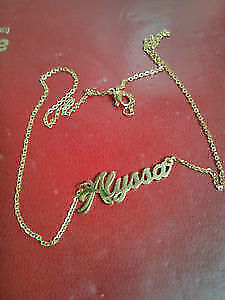 "18"" Necklace w/Nameplate"