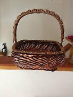 Large Wicker Basket or Bamboo Plate Set