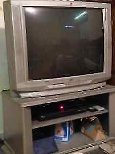 TV + Trawly + CD Player + more than 150 Movie Cds + Cable ($100)