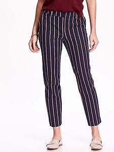 Women's Old Navy blue red stripe pants casual dress Size 18 NWT