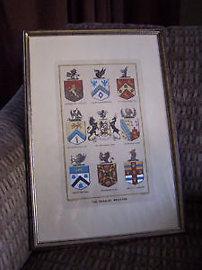 'The Heraldic Register' - Beautiful Framed Print Cambridge Kitchener Area image 1