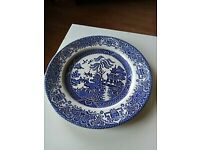 2 old English dinner plates