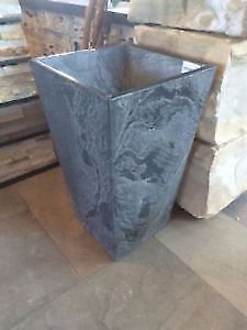 Silver Swirl Stone Flower Planter (Small and Large size)