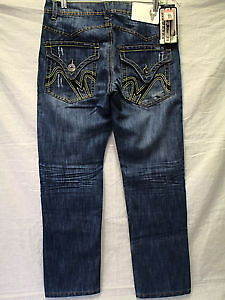 Hawk's Bay mens extra slim fit distressed blue jeans New 40X30 London Ontario image 4