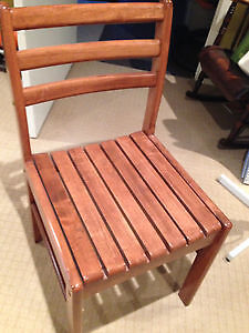 Hardwood dining table and 4 chairs