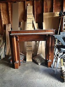 Antique Oak Fireplace Mantle from 1905 home