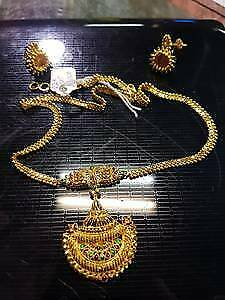 22k gold necklace & earrings $2999