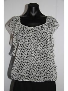 TOKITO Gorgeous print sheer Top (sz12) New