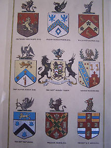 'The Heraldic Register' - Beautiful Framed Print Cambridge Kitchener Area image 5