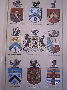 'The Heraldic Register' - Beautiful Framed Print Cambridge Kitchener Area image 5