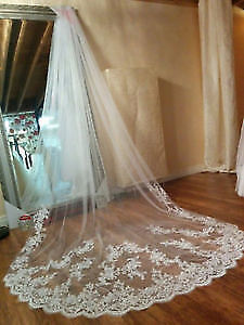 This Veil Lace Edged it is NEW - have ivory and white. This ve