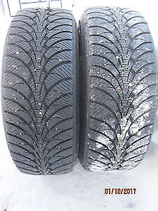 225/65R16 Goodyear UltraGrip 2 USED WINTER TIRES 80%TREAD LEFT