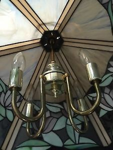 Antique Glass Ceiling Light Kitchener / Waterloo Kitchener Area image 5