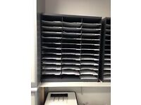36 Compartments - Literature Organiser - Mail Sorter - Pigeon Hole Unit