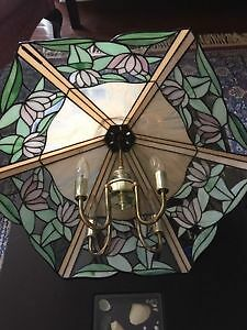 Antique Glass Ceiling Light Kitchener / Waterloo Kitchener Area image 4