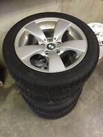 Winter kit bmw 5 series with brand new tires 17""