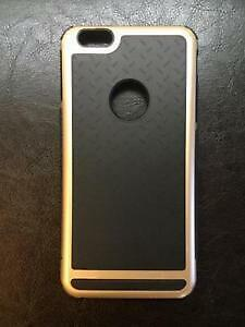 Phone 6 Plus Shockproof Case Gold and Black Trim - OBO