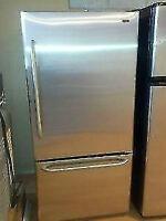 FRIGIDAIRES inox tiroirs congelateur  en bas&&&&