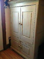 Solid Wood Armoire Antique Finish- Made in Knowlton, QC