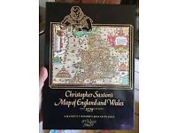 Vintage Christopher saxtons map of England and Wales jigsaw