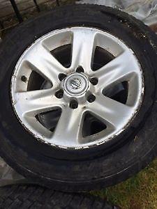"4 Nissan 17"" aluminum rims trade or sale St. John's Newfoundland image 1"