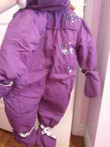 One piece girl's snow suit